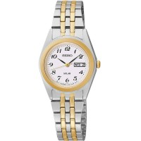 Seiko Ladies Solar Two Tone Bracelet Watch SUT116P9