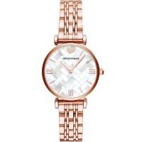 Emporio Armani Ladies Rose Tone Bracelet Watch AR11110