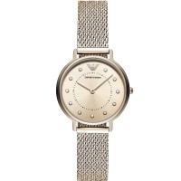 Emporio Armani Ladies Kappa Gold Plated Mesh Bracelet Watch AR11129