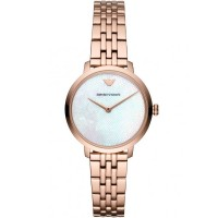 Emporio Armani Ladies Rose Gold Plated Bracelet Watch AR11158