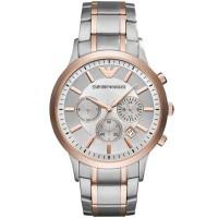 Emporio Armani Mens Two Tone Chronograph Bracelet Watch AR11077