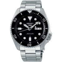 Seiko Mens 5 Sports Automatic Black Bracelet Watch SRPD55K1