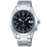 Seiko Mens Prospex Alpinist Automatic Black Dial Stainless Steel Bracelet Watch SPB117J1