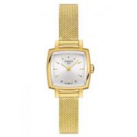 Tissot Ladies T-Lady Lovely Square Gold Tone Mesh Bracelet Watch T058.109.33.031.00