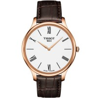 Tissot Mens T-Classic Tradition Rose Gold Plated Watch T063.409.36.018.00