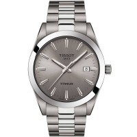 Tissot Mens Gentleman Titanium Watch T127.410.44.081.00