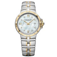 Raymond Weil Ladies Parsifal Two Tone Classic Mother Of Pearl Diamond Bracelet Watch 5180-STP-00995