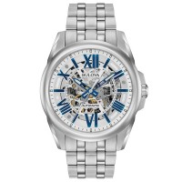 Bulova Mens Sutton Classic Automatic Skeleton Dial Bracelet Watch 96A187