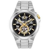 Bulova Mens Classic Maquina Skeleton Dial Bracelet Watch 98A224