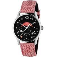 Gucci Moonphase Pink Leather Strap Watch YA1264046