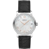 Montblanc Ladies Tradition Automatic Date Leather Strap Watch 114366