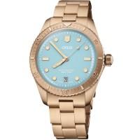 Oris Ladies Divers Sixty-Five Cotton Candy Blue Watch 01 733 7771 3155-07 8 19 15