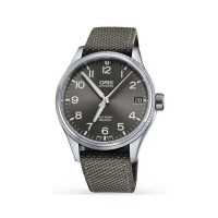Oris Mens Big Crown ProPilot Big Date Grey Leather Strap Watch 751 7697 4063-07 TS