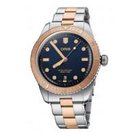 Oris Mens Divers Sixty-Five Bi-Colour Bracelet Watch 733 7707 4355-07 8 20 17