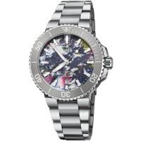 Oris Mens Aquis Date Upcycle Watch 01 733 7766 4150-SET