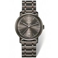 Rado Mens DiaMaster Automatic Grey Ceramic Bracelet Watch R14074112 XL