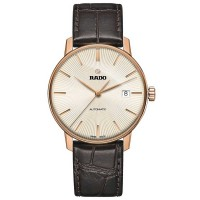 Rado Mens Coupole Classic Automatic Brown Leather Strap Watch R22861115 L