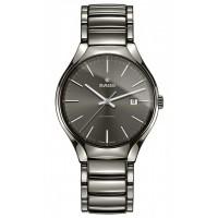 Rado Mens True Automatic Grey Ceramic Bracelet Watch R27057102