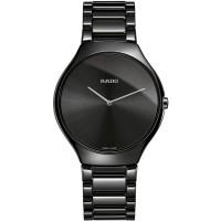 Rado Ladies True Thinline Quartz Black Ceramic Bracelet Watch R27741182