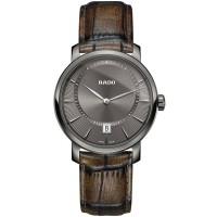 Rado Mens DiaMaster Quartz Brown Leather Strap Watch R14135306