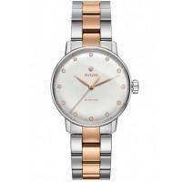 Rado Ladies Coupole Classic Diamonds Automatic Two Tone Bracelet Watch R22862742 S
