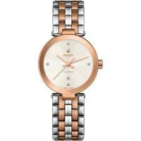 Rado Ladies Florence Diamonds Automatic Two Tone Steel Bracelet Watch R48900733