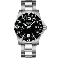 Longines Mens HydroConquest Automatic Black Dial Bracelet Watch L3.742.3.56.7