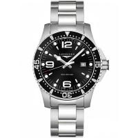 Longines Mens HydroConquest Quartz Black Dial Bracelet Watch L3.840.3.56.7