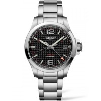 Longines Conquest V.H.P Black Dial Bracelet Watch L37184666