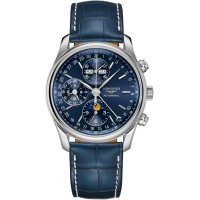 Longines Master Automatic Chronograph Blue Dial Leather Strap Watch L26734920