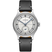 Longines Mens Heritage Classic Automatic Black Leather Strap Watch L2.828.3.73.7
