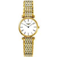 Longines Ladies La Grande Classique White Dial Two Colour Bracelet Watch L4.209.3.11.7