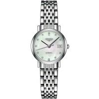Longines Elegant Diamond Set Mother of Pearl Dial Bracelet Watch L43094876