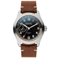 Bremont Mens Limited Edition H-4-Hercules Automatic Brown Strap Watch H-4-HERCULES-SS-S