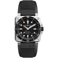 Bell & Ross Mens Instruments Diver Automatic Watch BR0392-D-BL-ST/SRB