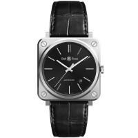 Bell & Ross Mens Instruments Black Steel Watch BRS92-BLC-ST/SCR