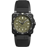Bell & Ross Mens Limited Edition BR 03-92 Diver Military Watch BR0392-D-KA-CE/SRB