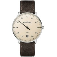 MeisterSinger Mens Neo Automatic Leather Strap Watch NE903N