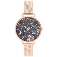 Olivia Burton Celestial Rose Gold Boucle Mesh Strap Watch OB16GD33