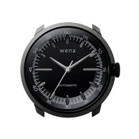 Wena Wrist Automatic Three Hands Black Watch Head WNWHTM01BB.AE