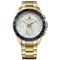 Tommy Hilfiger Luke Gold Plated Silver Chronograph Dial Bracelet Watch 1791121