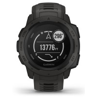 Garmin Instinct Graphite Black Rubber Strap Smartwatch 010-02064-00