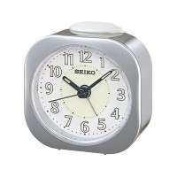 Seiko Clocks Silver Beep Alarm Clock QHE121S