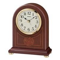Seiko Clocks Brown Alder Wooden Mantel Clock QXE057B
