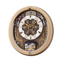 Seiko Clocks Gold Melody In Motion Musical Wall Clock QXM350G