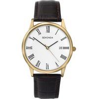 Sekonda Mens Classic Brown Strap Watch 3676