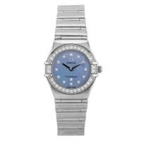 Pre-Owned OMEGA Constellation My Choice 18ct White Gold Diamond Set Blue Bracelet Watch B511620(444)