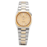 Pre-Owned Omega Ladies 18ct Two Tone Gold Constellation Bracelet Watch F499893