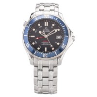 Pre-Owned OMEGA Mens Seamaster Diver 300m Co-Axial GMT 41mm Automatic Bracelet Watch 2535.80.00