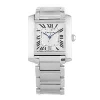 Pre-Owned Cartier Ladies Tank Francaise Silver Bracelet Watch 421019